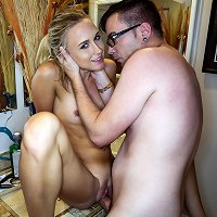 Blonde teen Bree and her bro were messing around with each other one day, and it got pretty serious when she swallowed his meat! Later that day Bree g